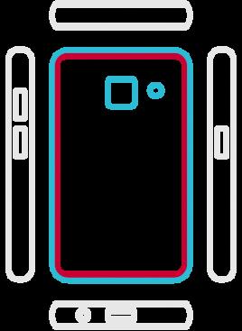 Galaxy A3 2018  - Backcover Austausch
