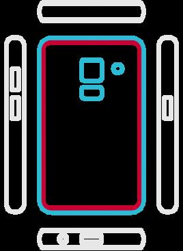 Galaxy A5 2018  - Backcover Austausch