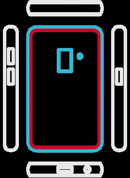 Galaxy S8+ SM-G955F  - Backcover Austausch
