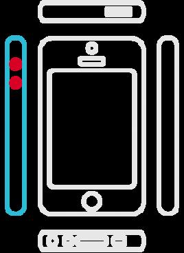 iPhone 5C - Lautstärke Schalter