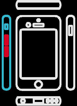 iPhone 6S Plus - Lautstärke Schalter