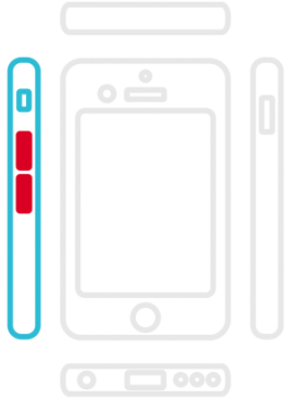 iPhone 6 Plus - Lautstärke Schalter