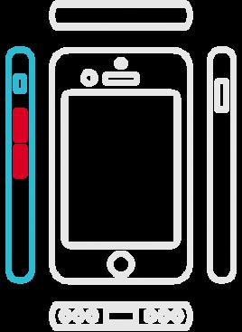 iPhone 7 - Lautstärke Schalter
