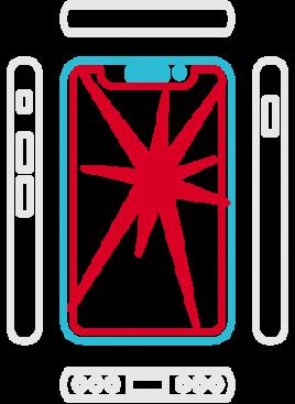 iPhone XR Displayreparatur Erstausrüsterqualität